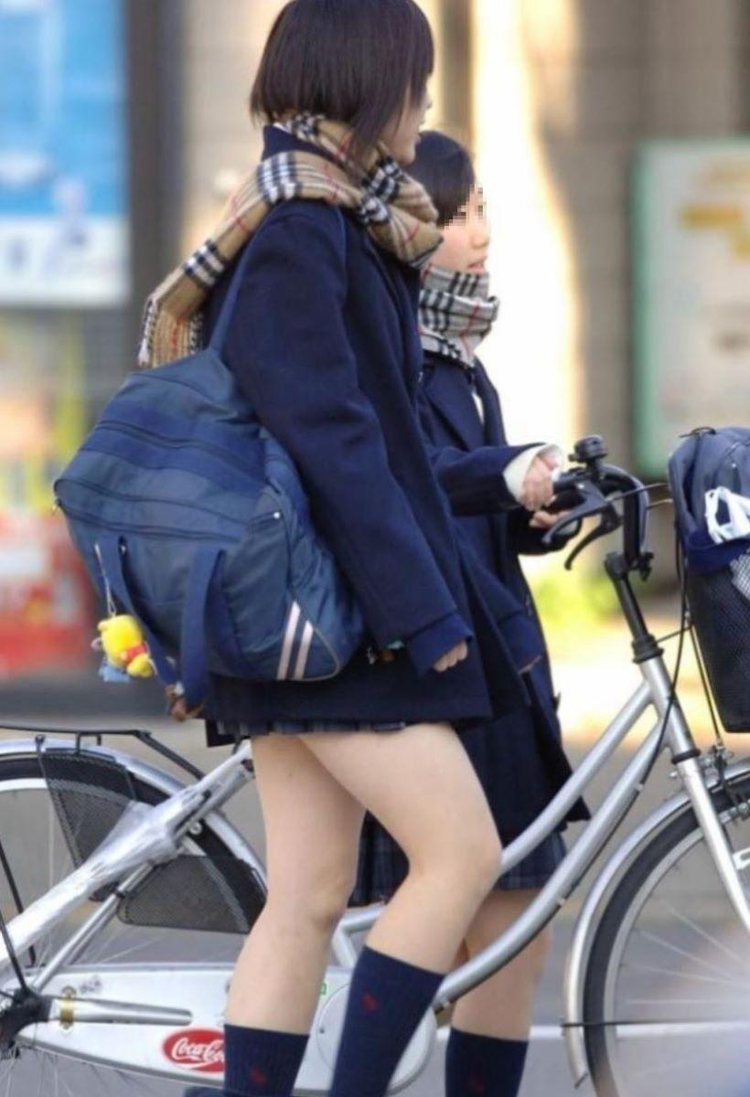 自転車通学 ミニスカ JK画像 121