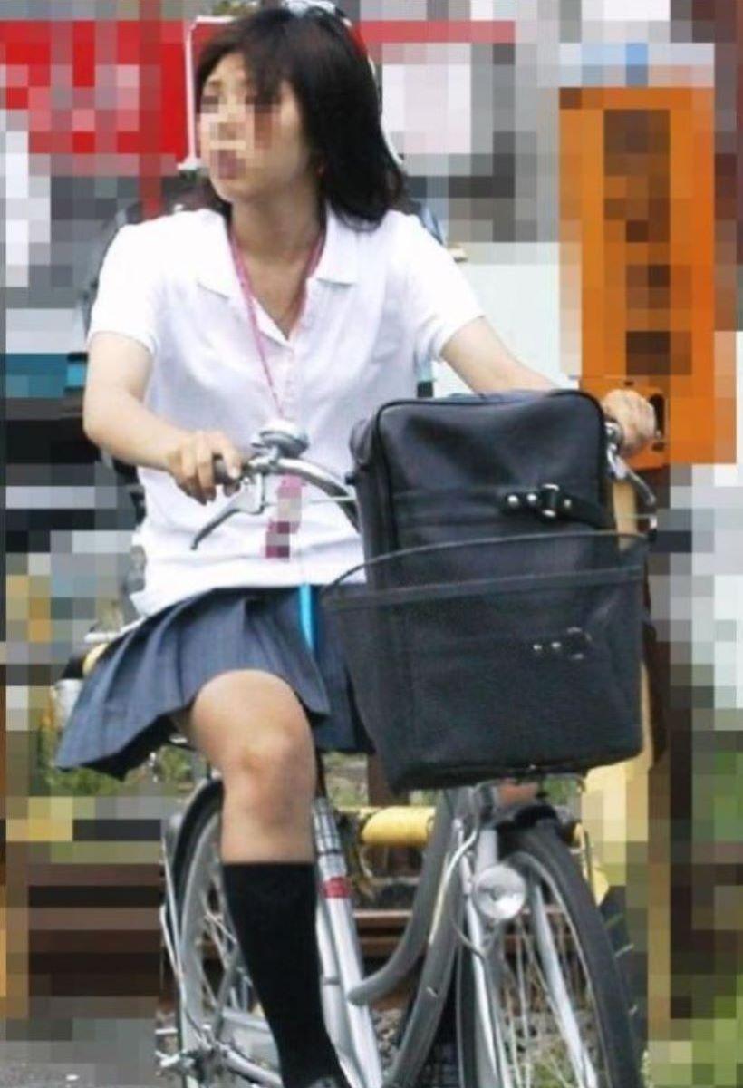 自転車通学 ミニスカ JK画像 124