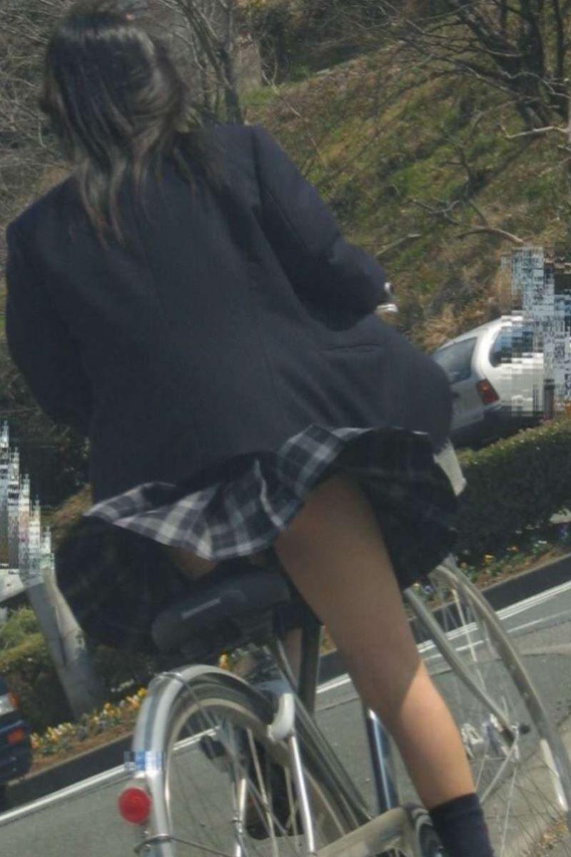 自転車通学 ミニスカ JK画像 125