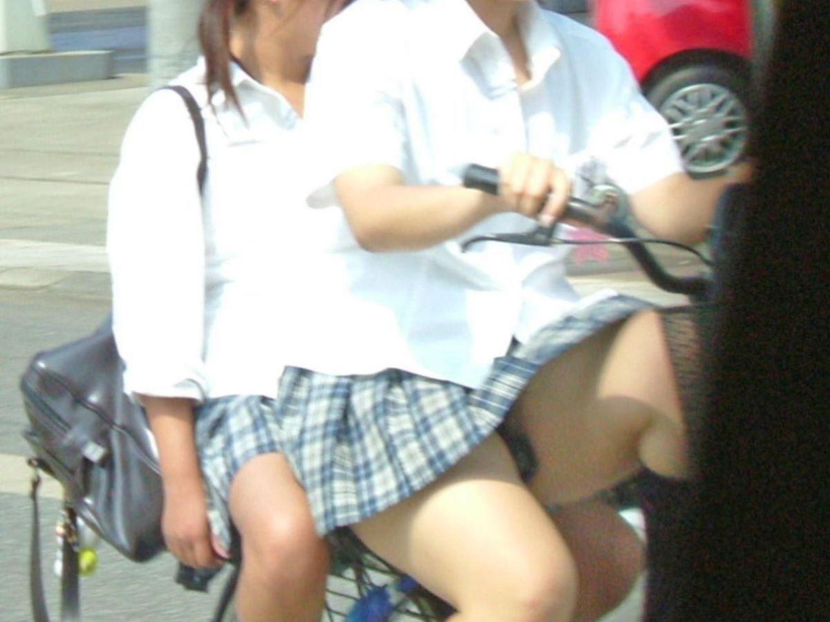 自転車通学 ミニスカ JK画像 129