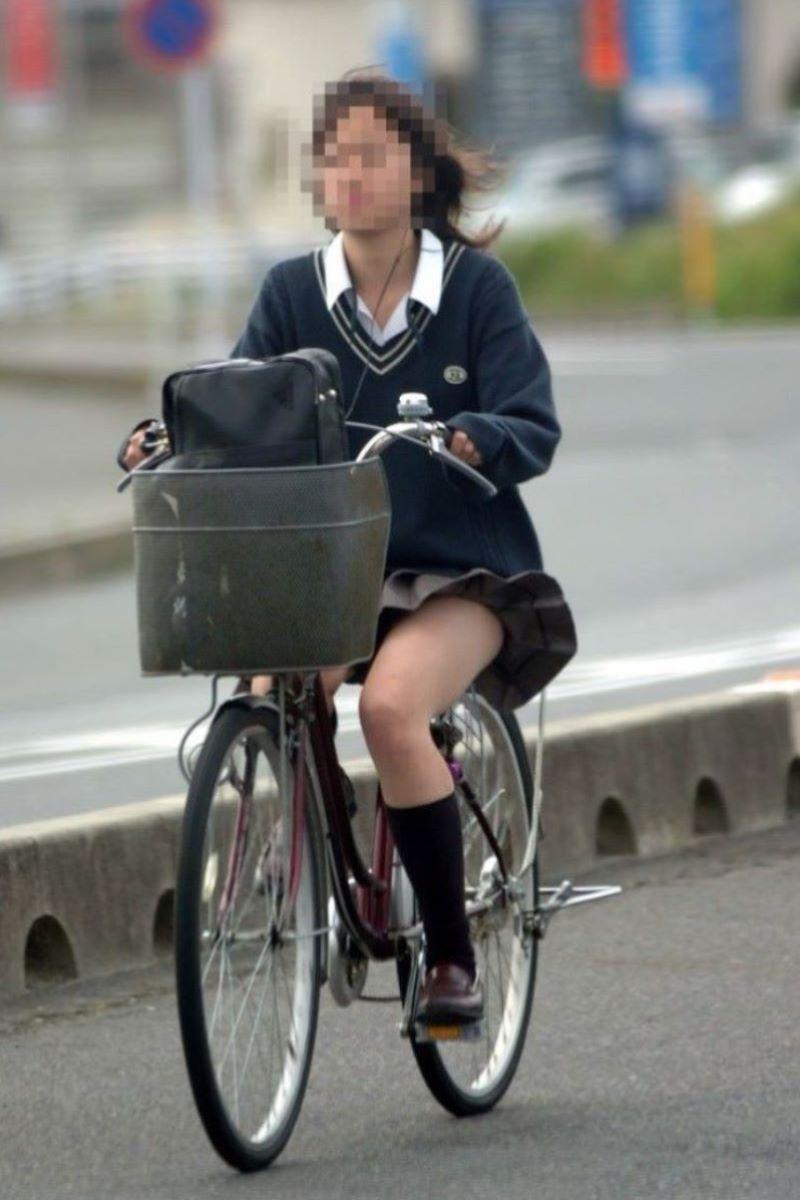 自転車通学 ミニスカ JK画像 132