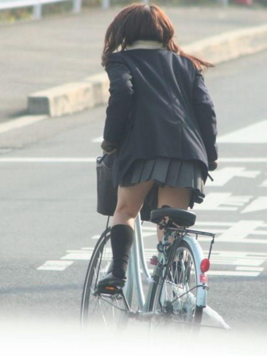 自転車通学 ミニスカ JK画像 137