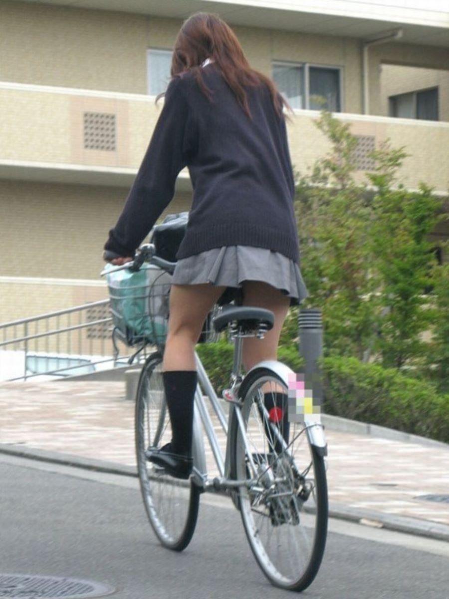 自転車通学 ミニスカ JK画像 138