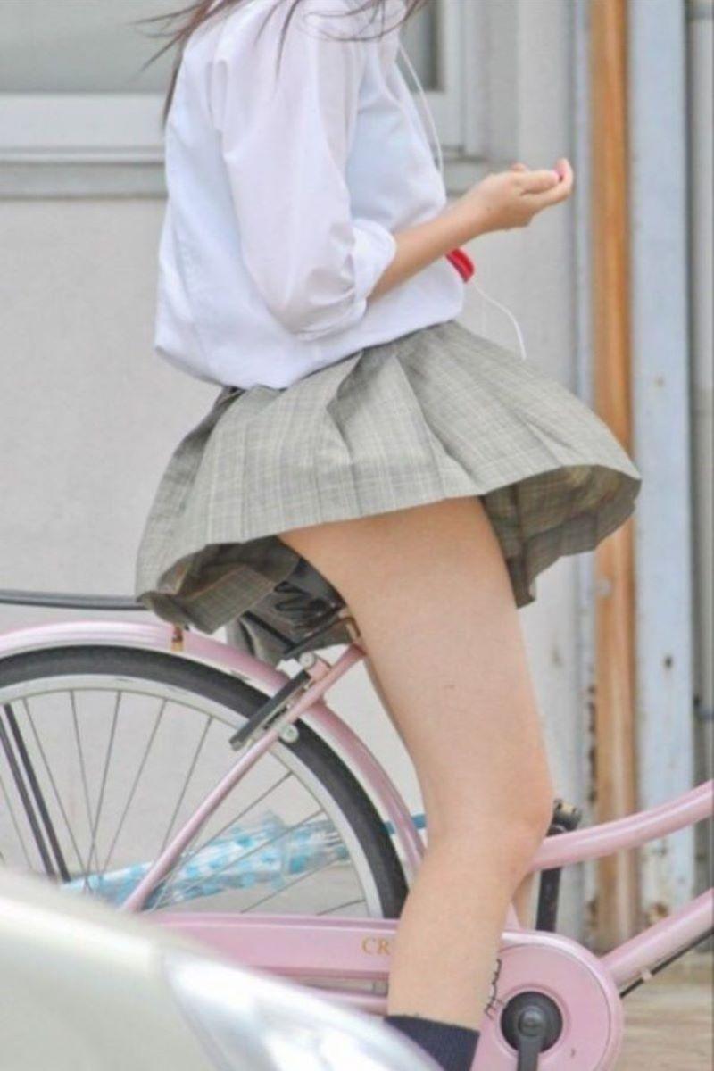 自転車通学 ミニスカ JK画像 140
