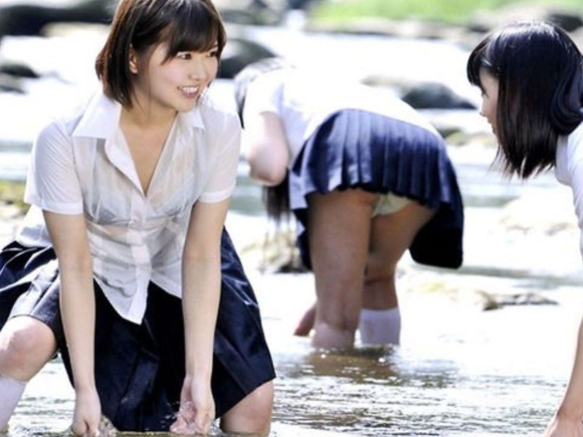 濡れ透け JK画像 74