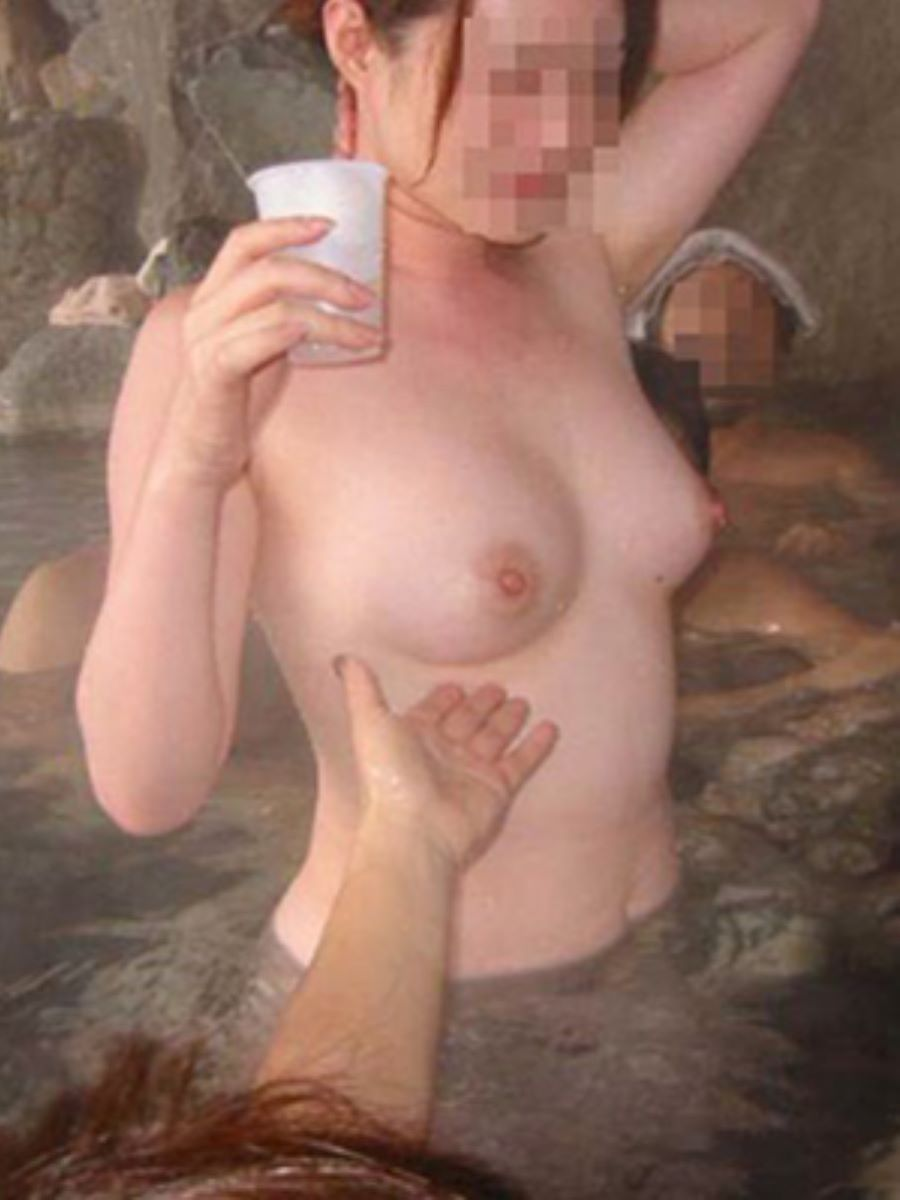 混浴 露天風呂 素人 熟女 ヌード画像 88