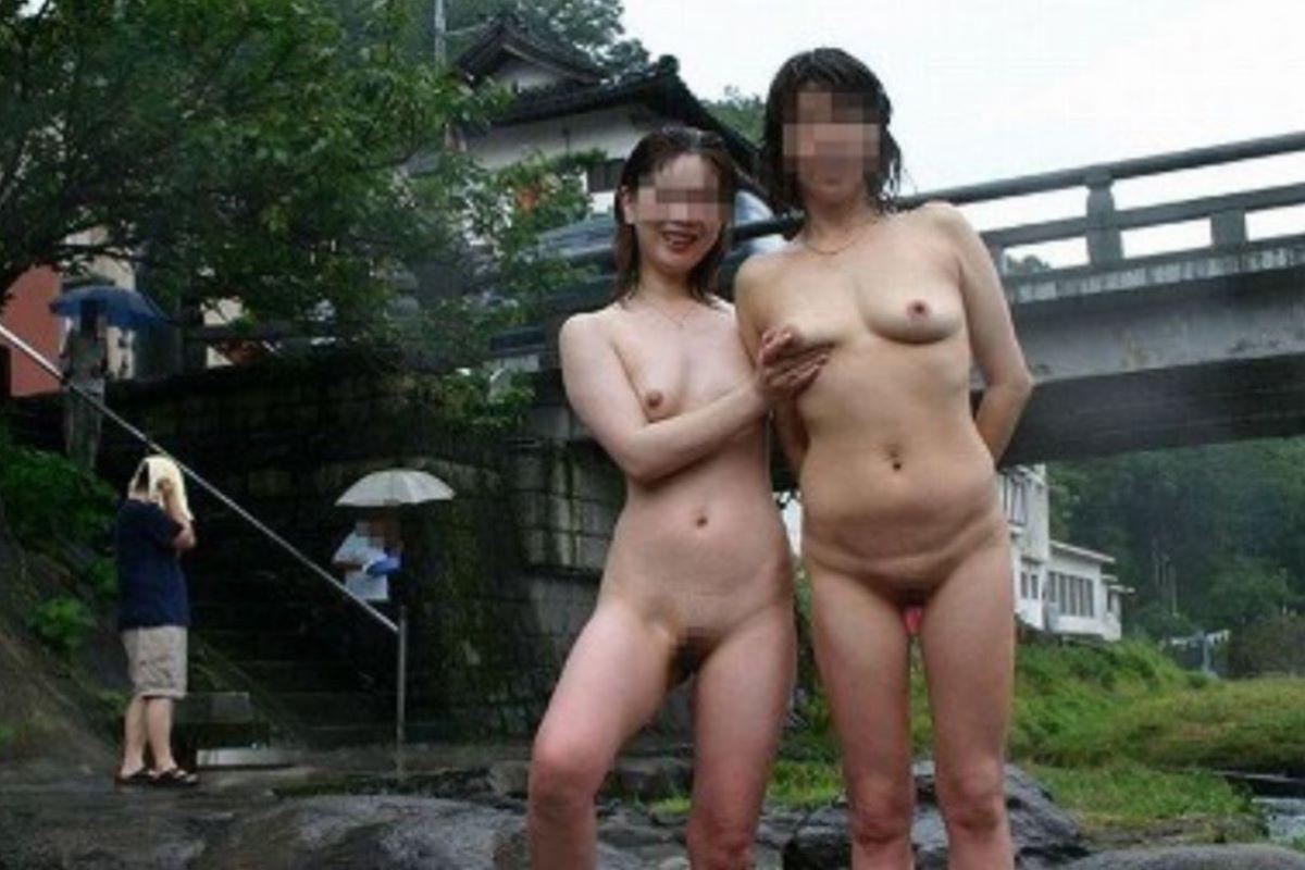 混浴 露天風呂 素人 熟女 ヌード画像 99