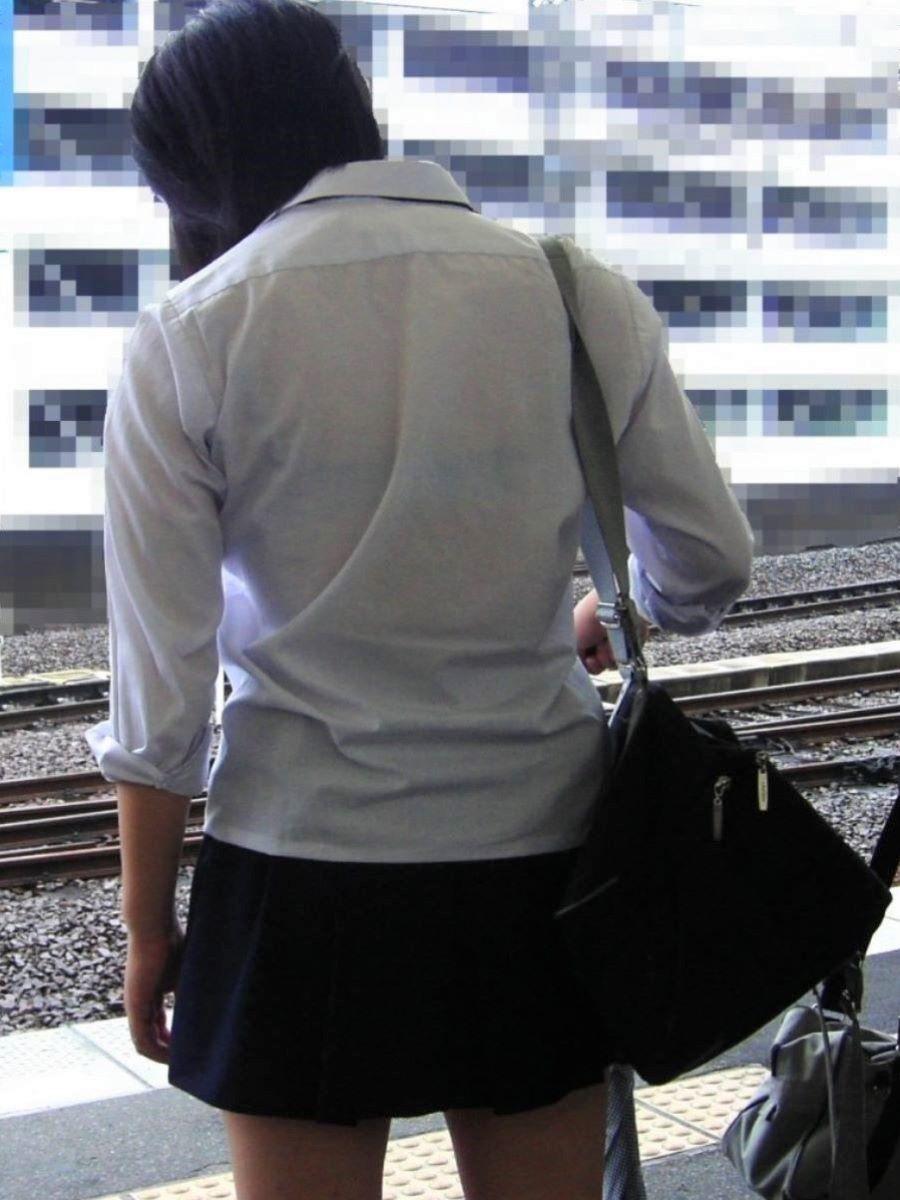 夏服JK 透けブラジャー画像 35