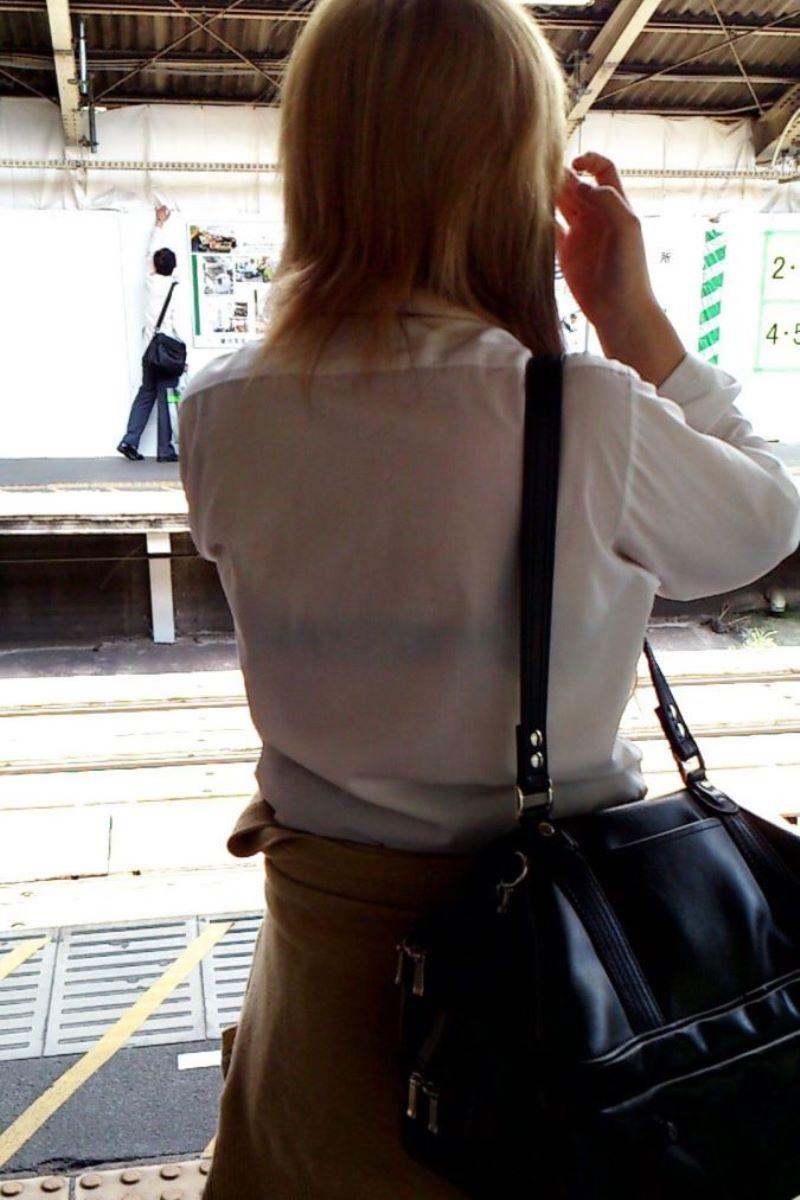 夏服JK 透けブラジャー画像 36