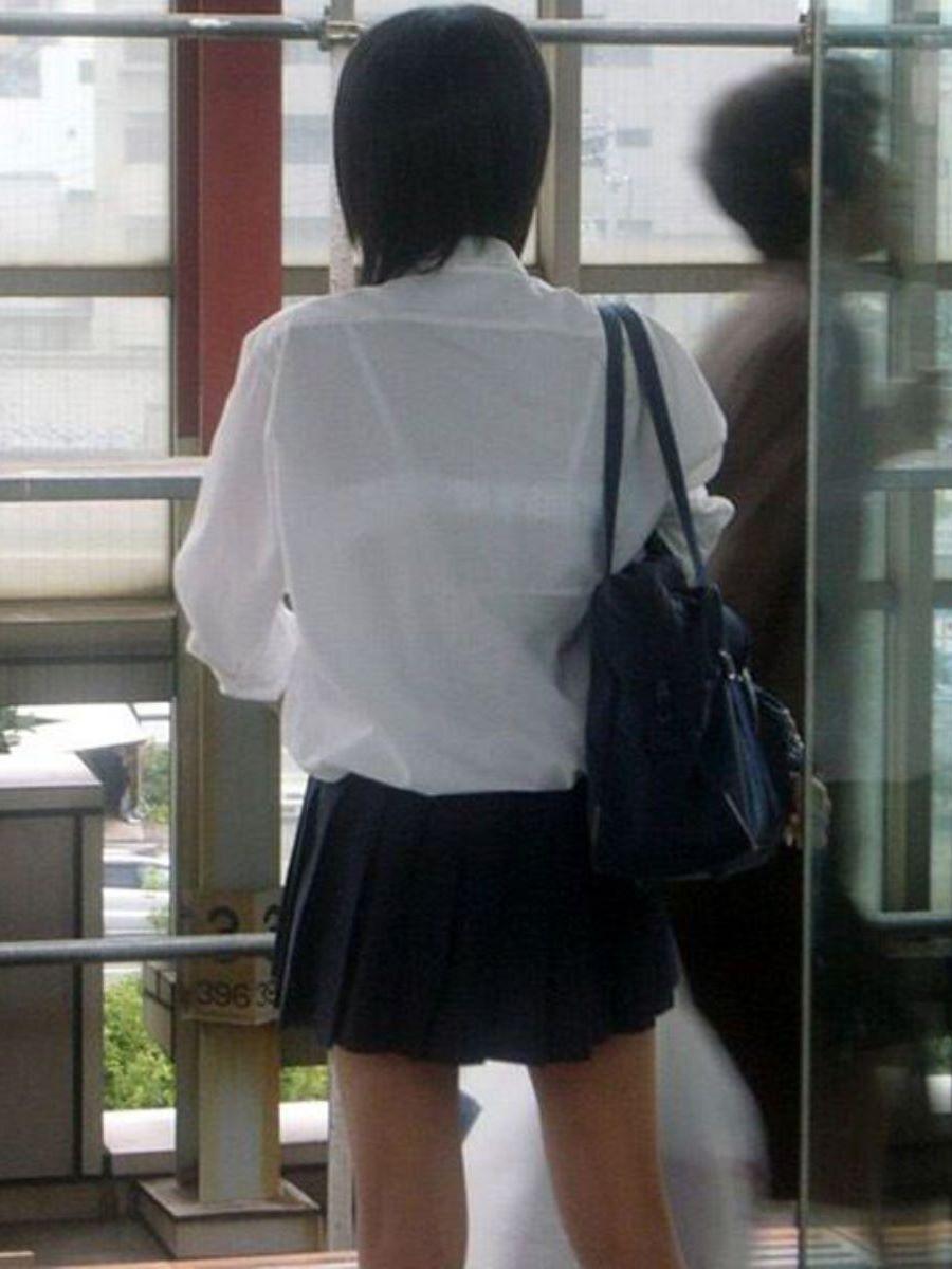 夏服JK 透けブラジャー画像 52