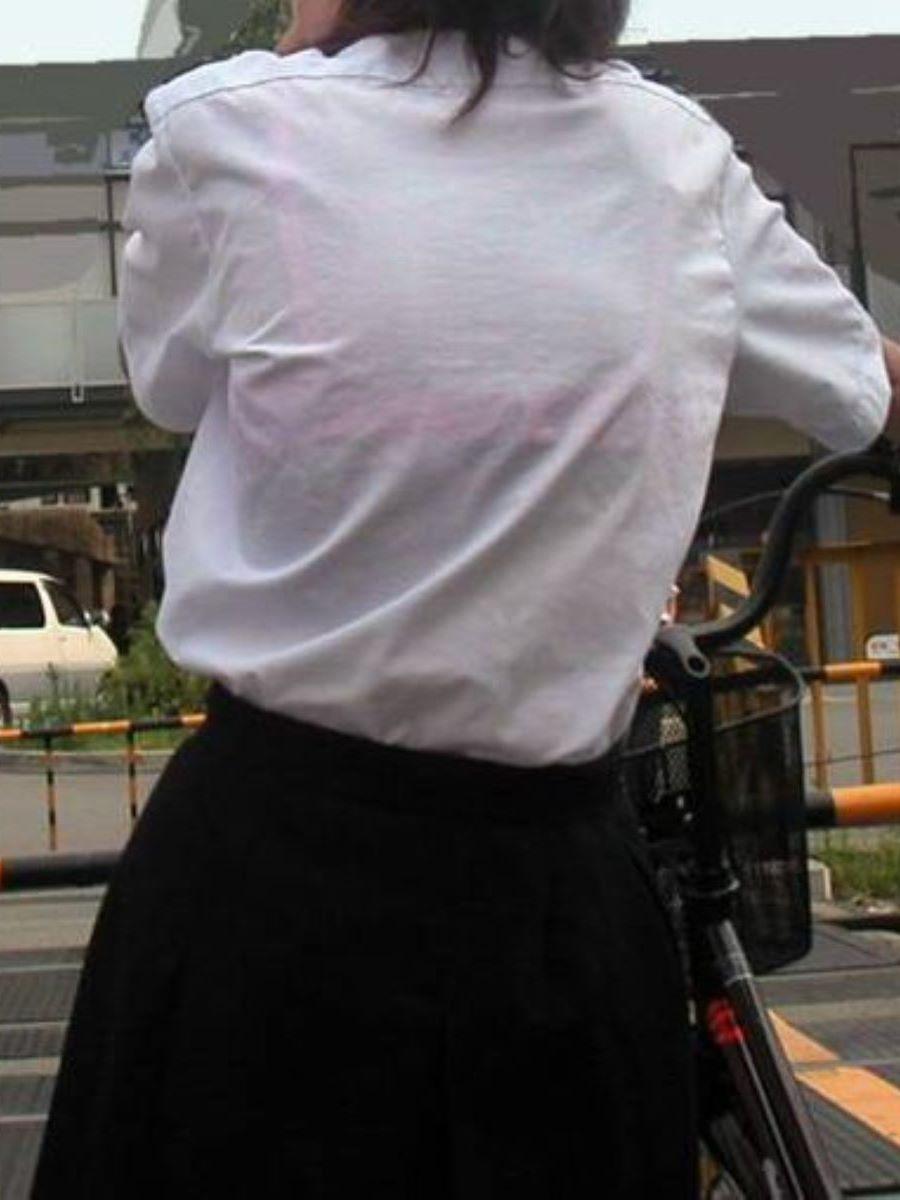 夏服JK 透けブラジャー画像 53