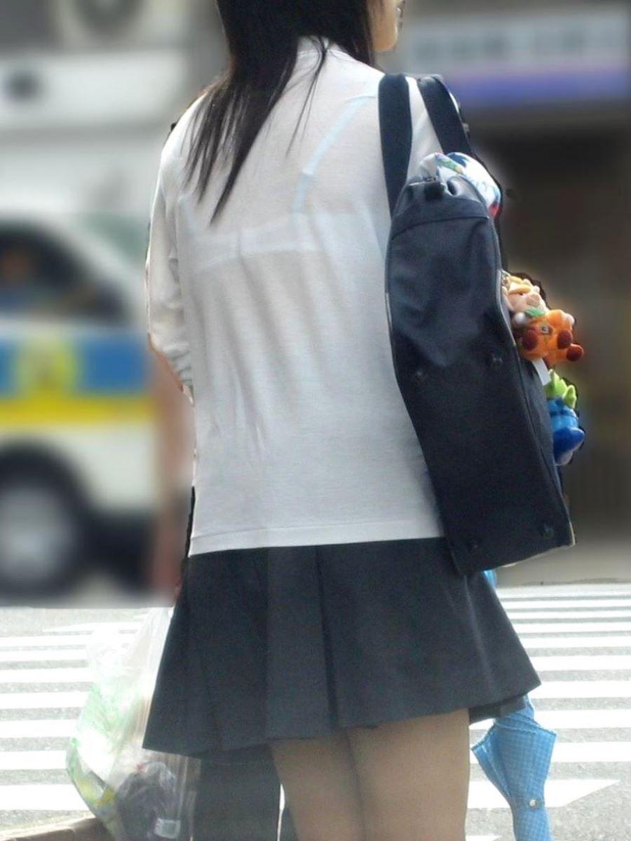 夏服JK 透けブラジャー画像 65