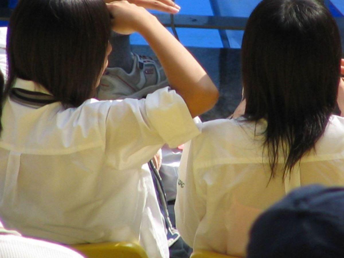 夏服JK 透けブラジャー画像 69