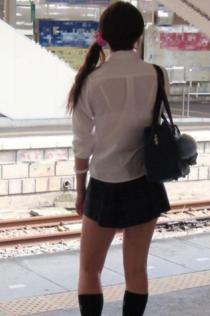 夏服JK 透けブラジャー画像 74