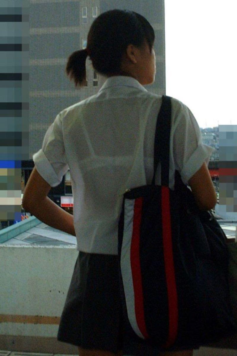 夏服JK 透けブラジャー画像 80