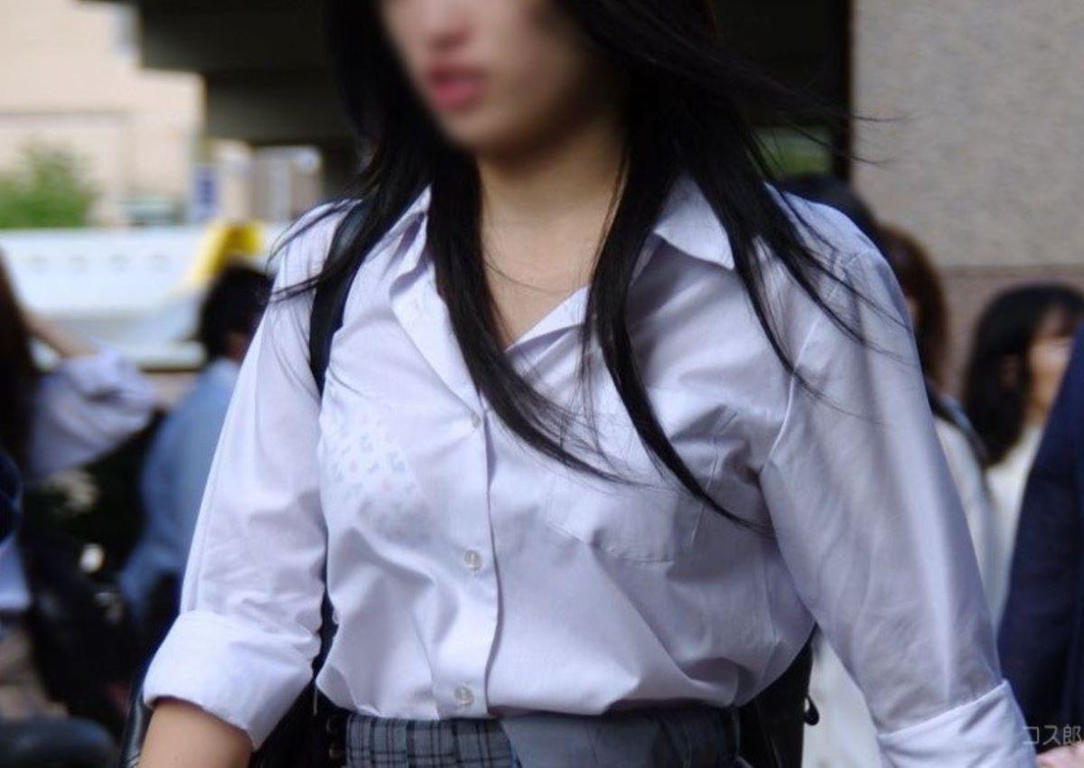 夏服JK 透けブラジャー画像 81
