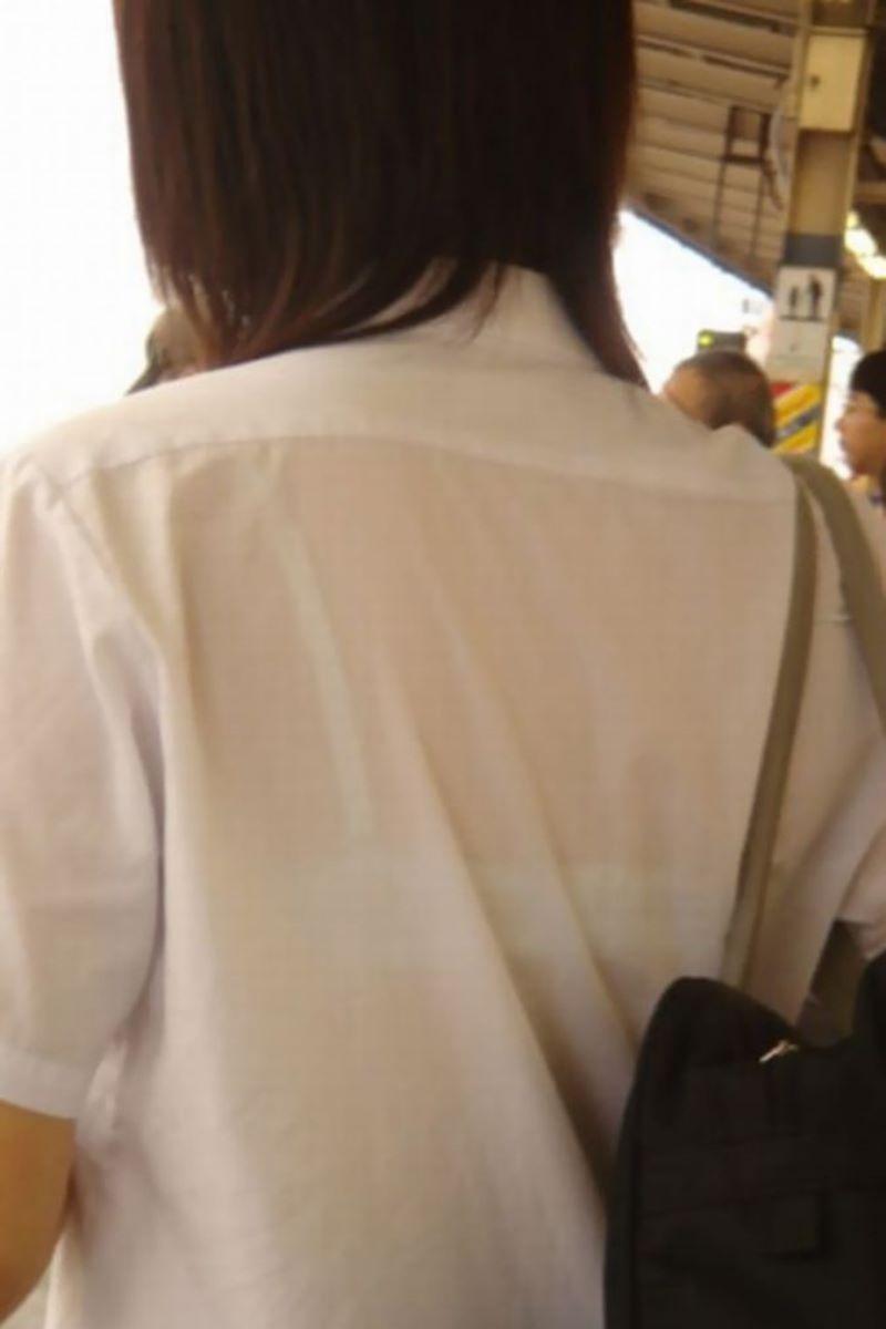 夏服JK 透けブラジャー画像 134