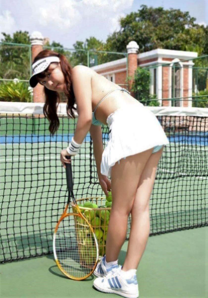 テニス女子 パンチラ エロ画像 1