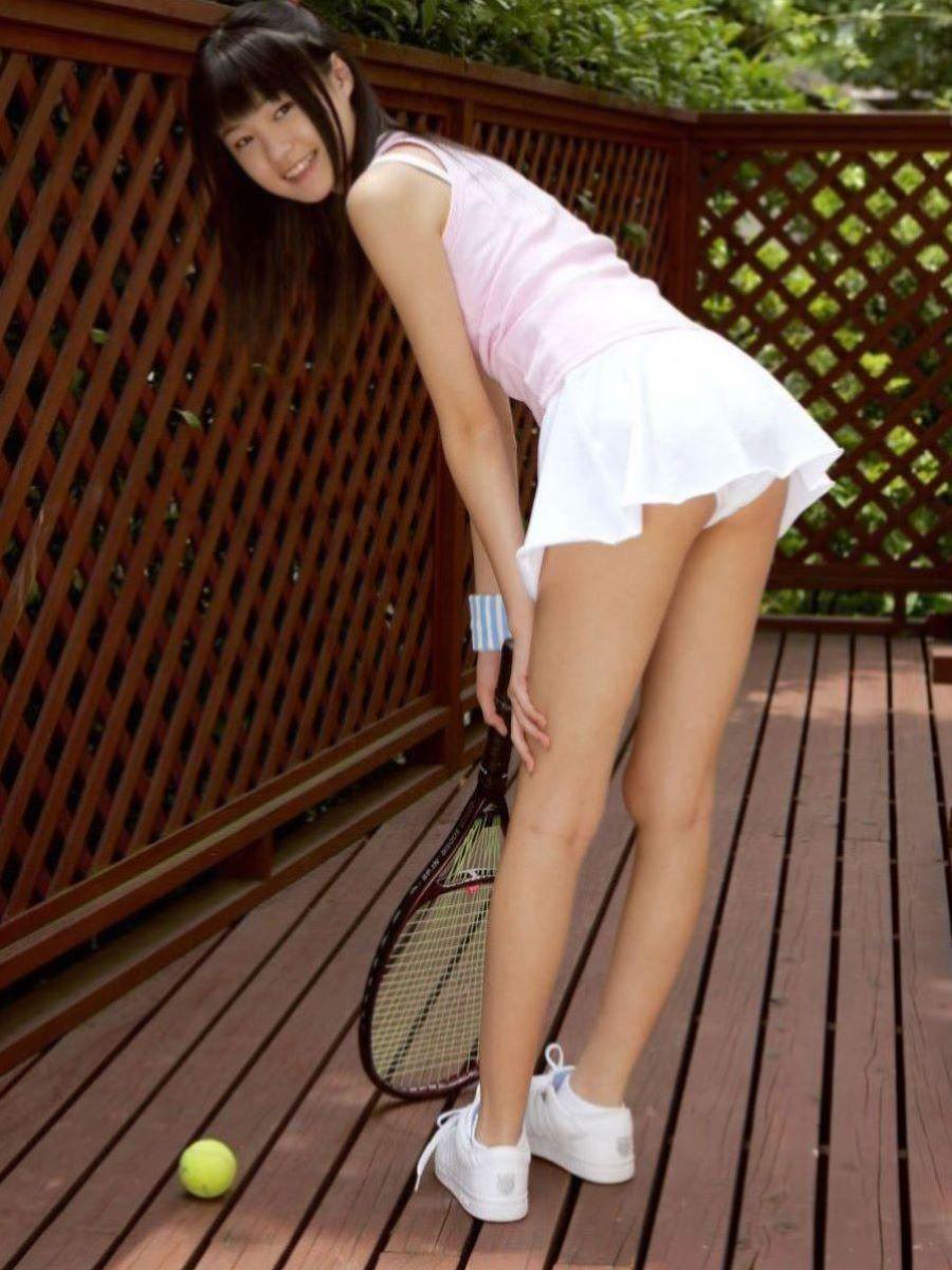 テニス女子 パンチラ エロ画像 14