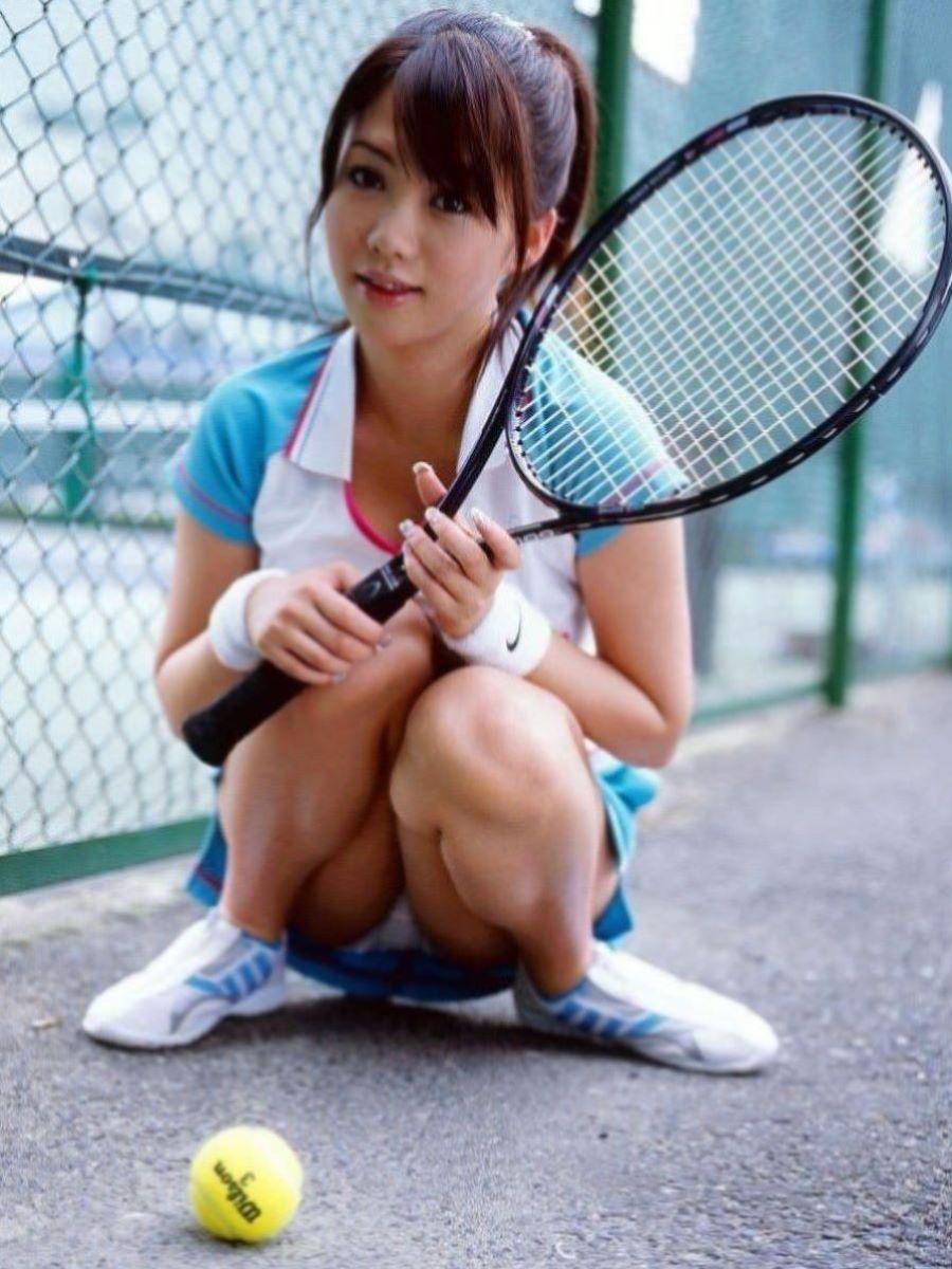 テニス女子 パンチラ エロ画像 17