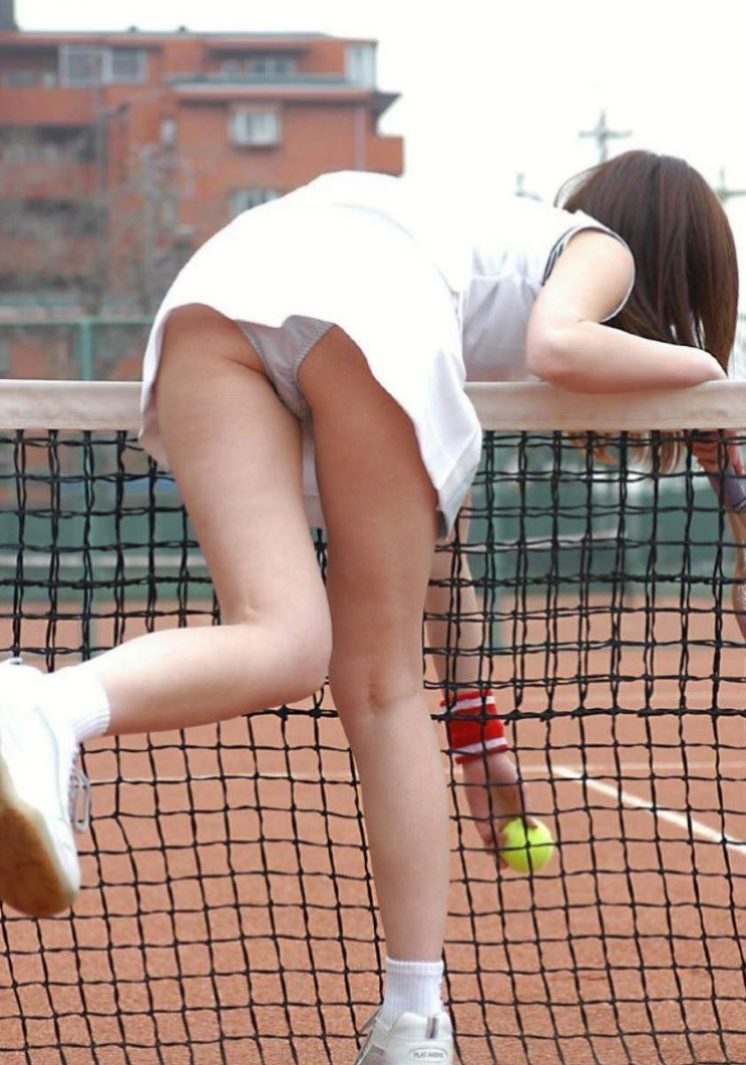 テニス女子 パンチラ エロ画像 36