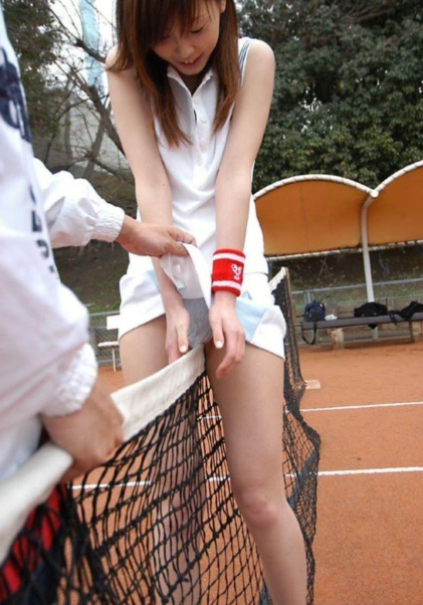 テニス女子 パンチラ エロ画像 53