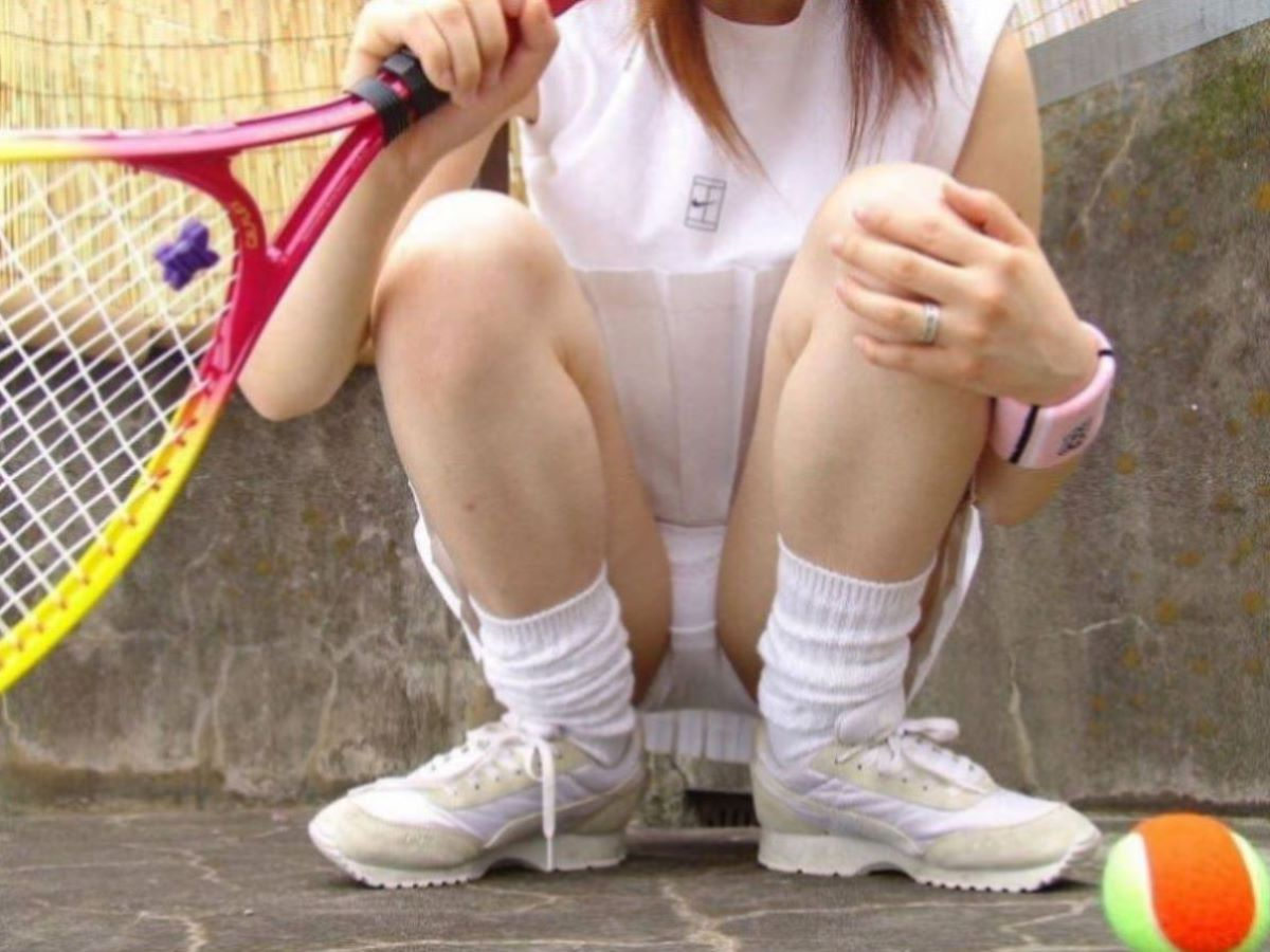 テニス女子 パンチラ エロ画像 58