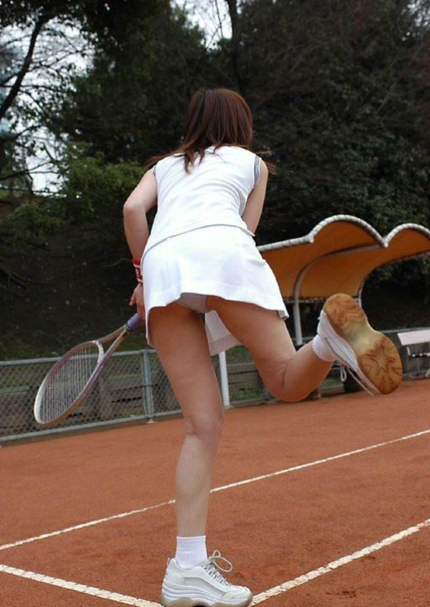 テニス女子 パンチラ エロ画像 72