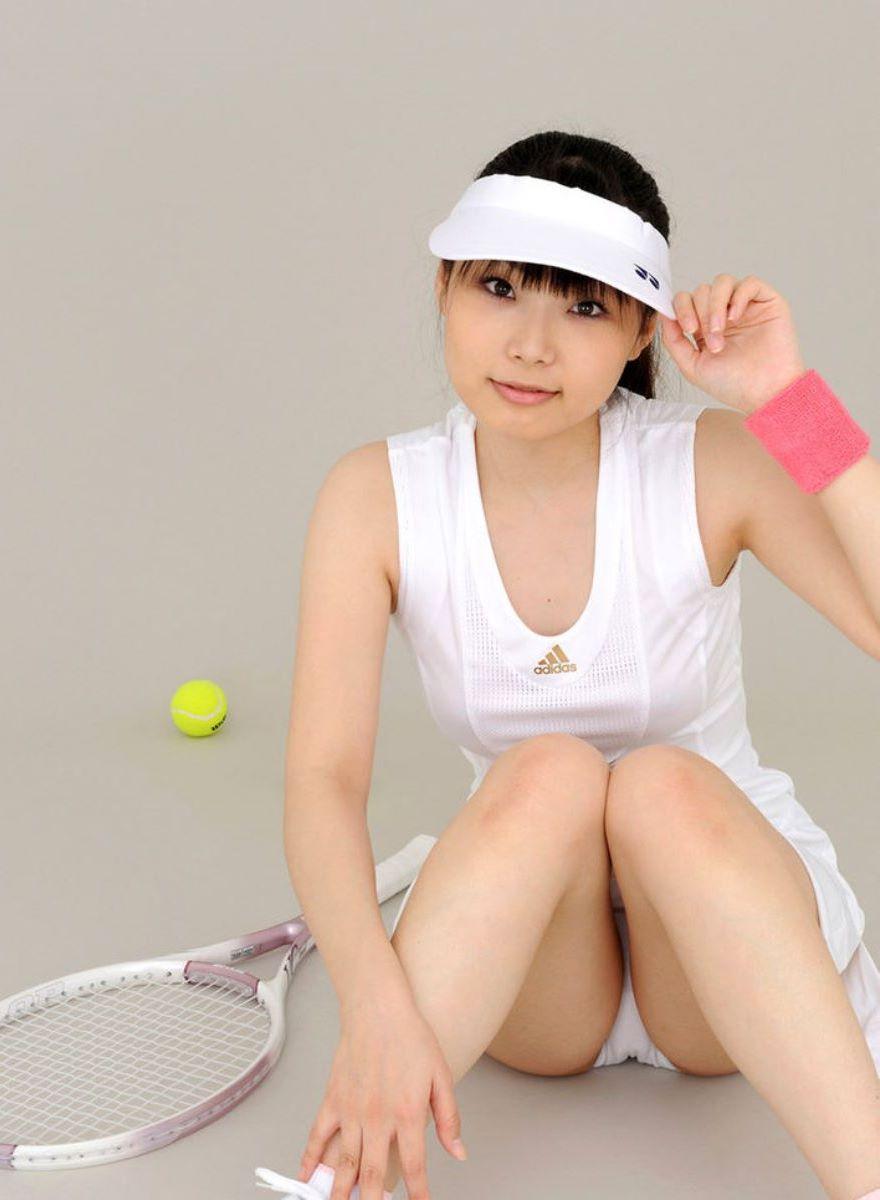 テニス女子 パンチラ エロ画像 97