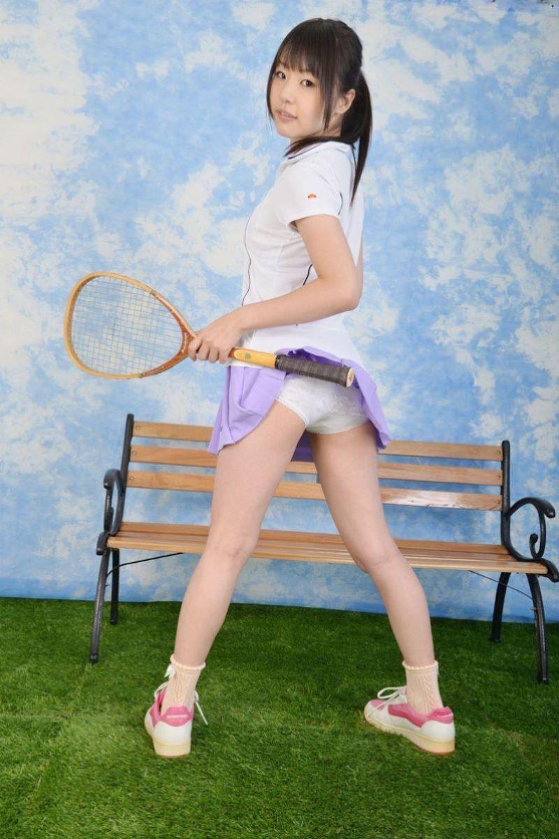 テニス女子 パンチラ エロ画像 110