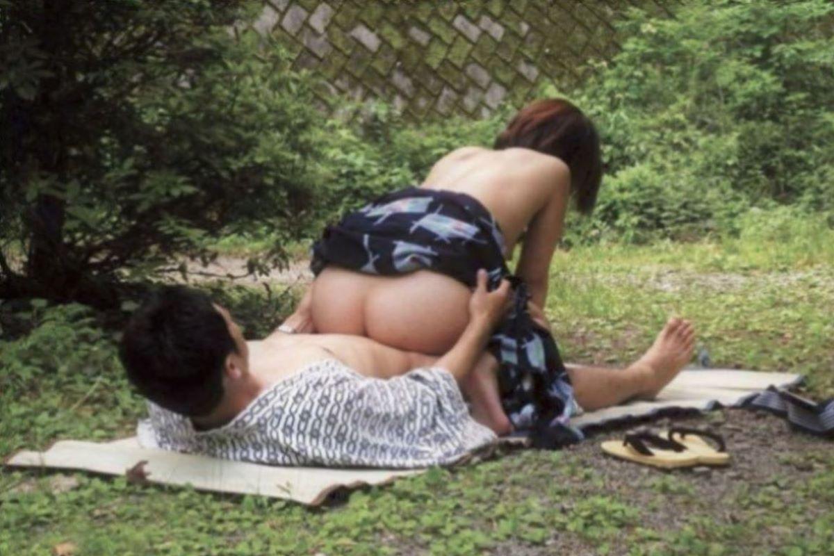 旅館 夏祭り 浴衣 浴衣姿 セックス画像 44