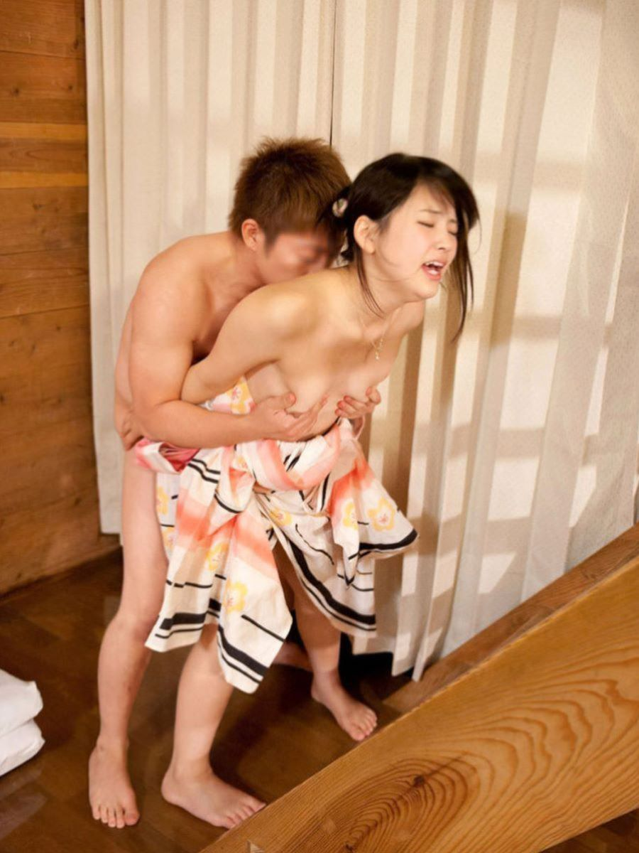 旅館 夏祭り 浴衣 浴衣姿 セックス画像 53