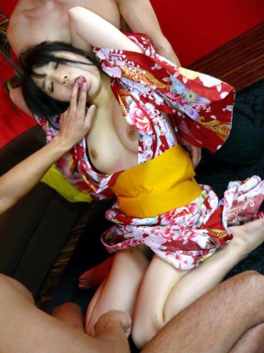 旅館 夏祭り 浴衣 浴衣姿 セックス画像 106