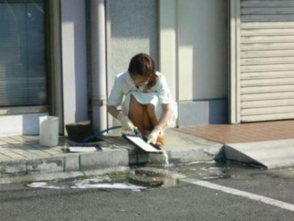 ナース 女性看護師 パンツ 隠し撮り パンチラ エロ画像 1
