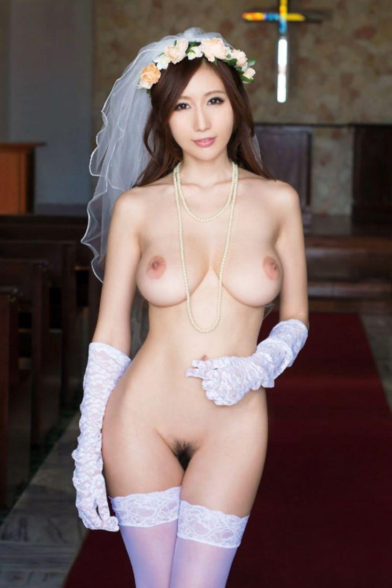 花嫁とウェディングドレスのエロ画像 117