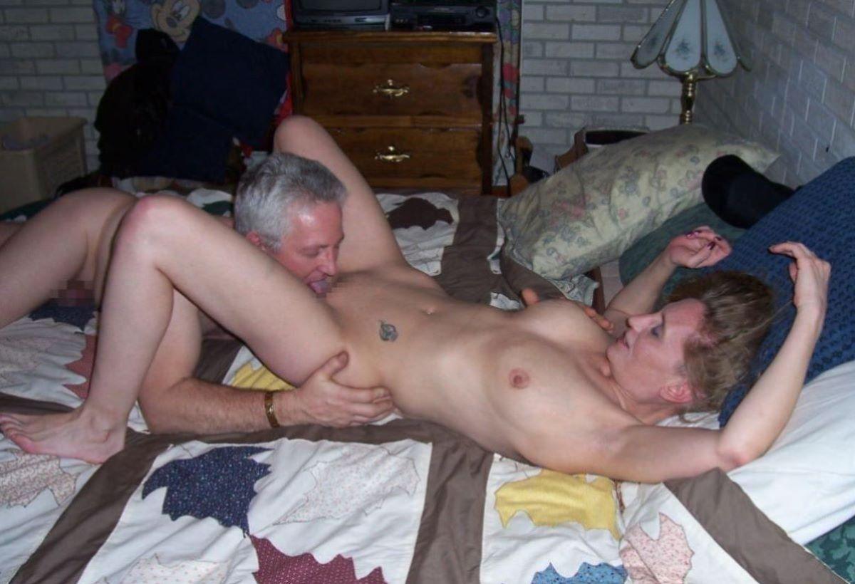 クリトリスを舐める外国人クンニ画像 46