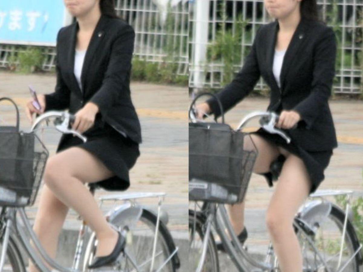 自転車のパンチラ画像 85