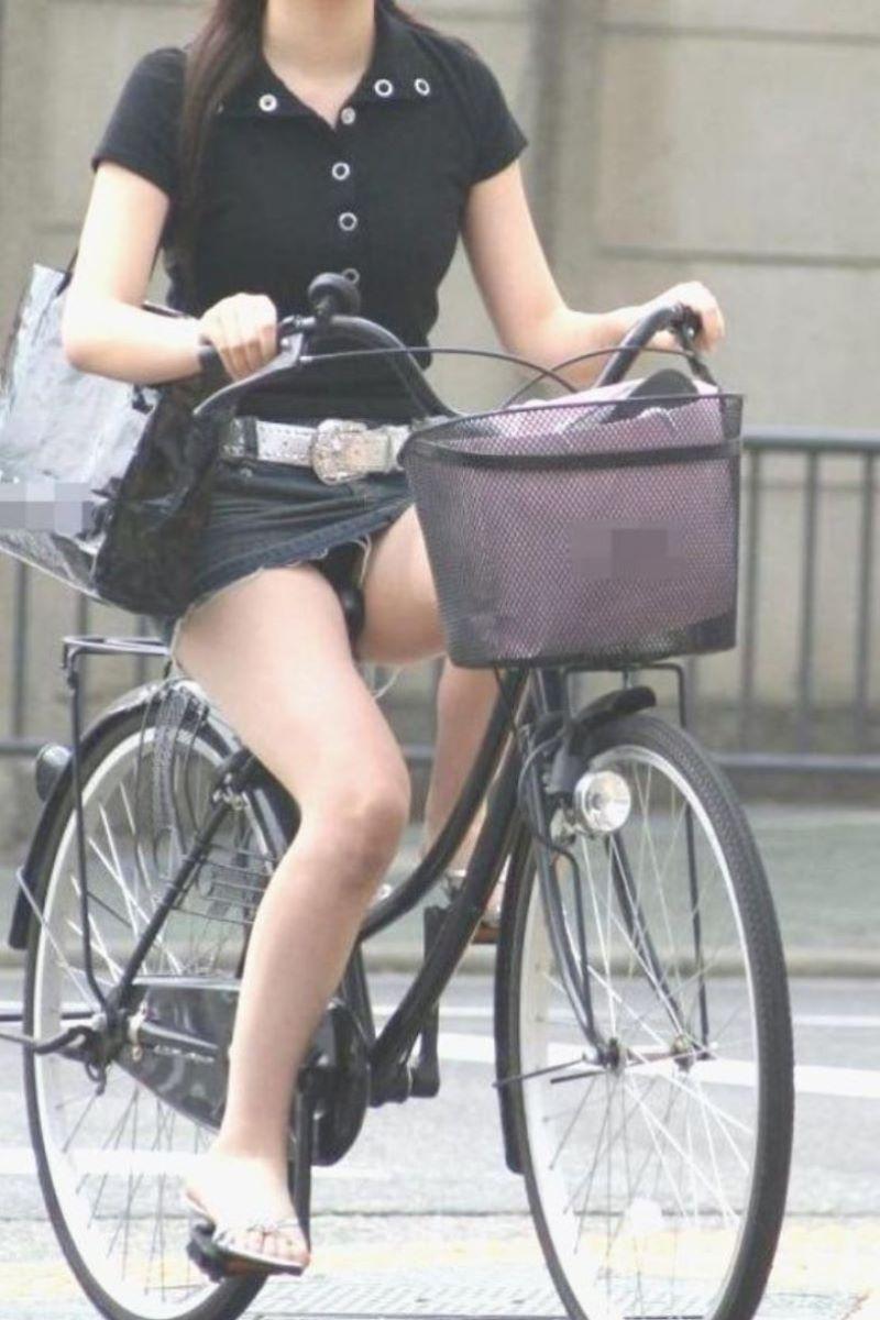 自転車のパンチラ画像 90