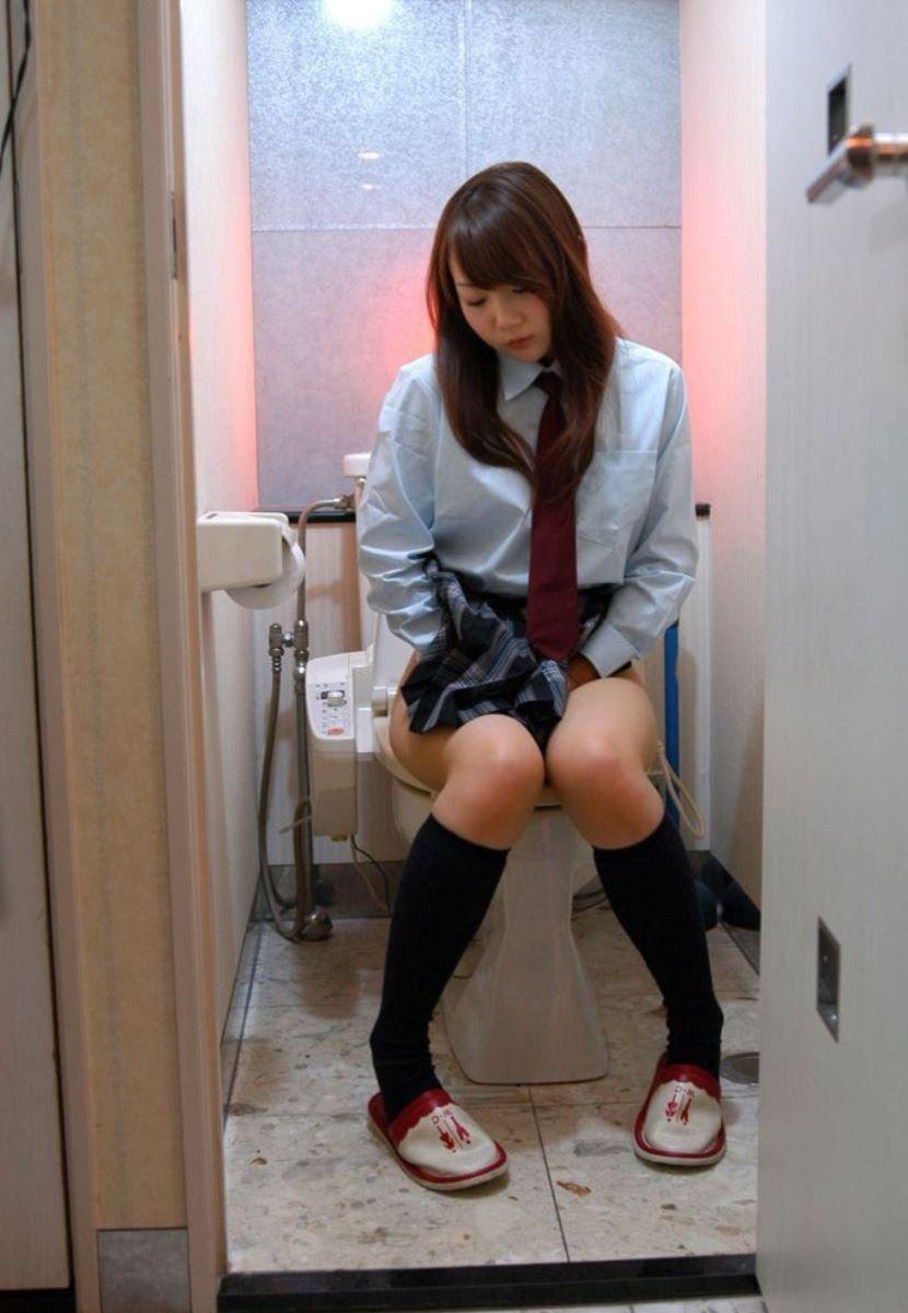 洋式トイレのエロ画像 14