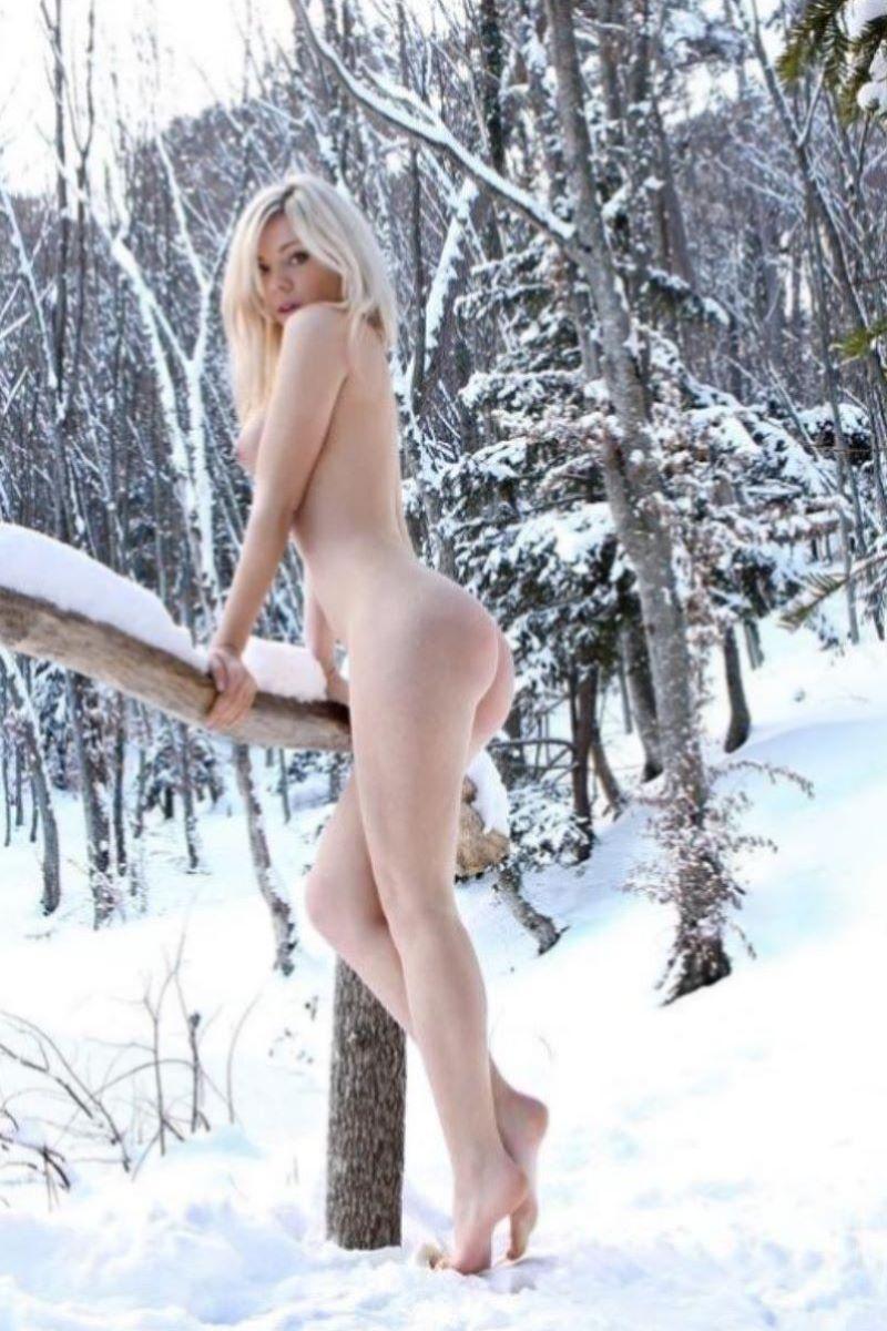 冬の野外露出画像 28