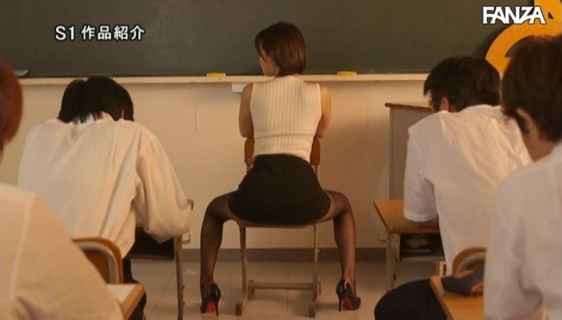 デカ尻先生 葵つかさ 騎乗位セックス画像 45