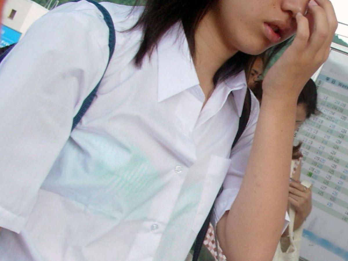 制服JK 透けブラ画像 9