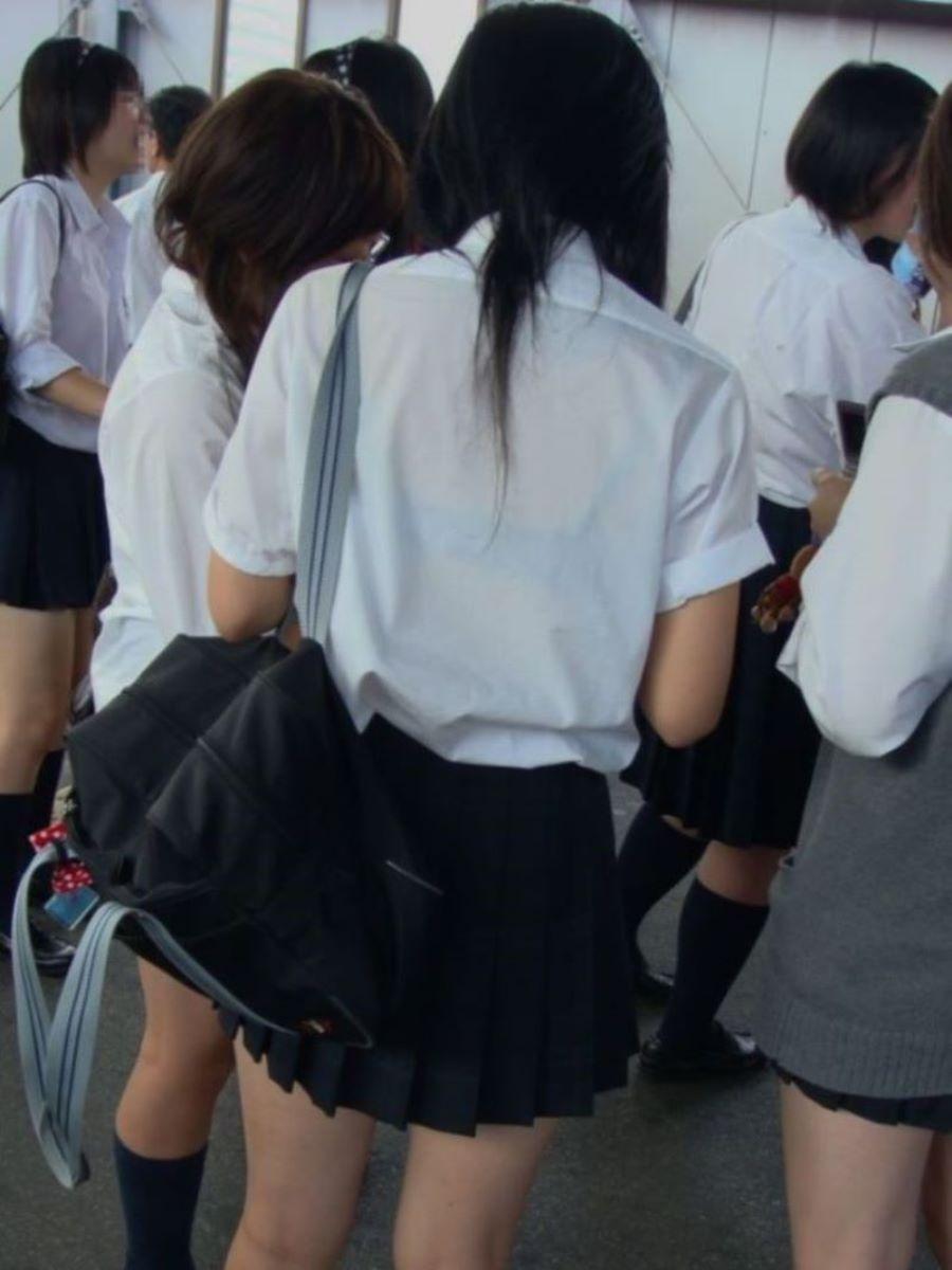 制服JK 透けブラ画像 12