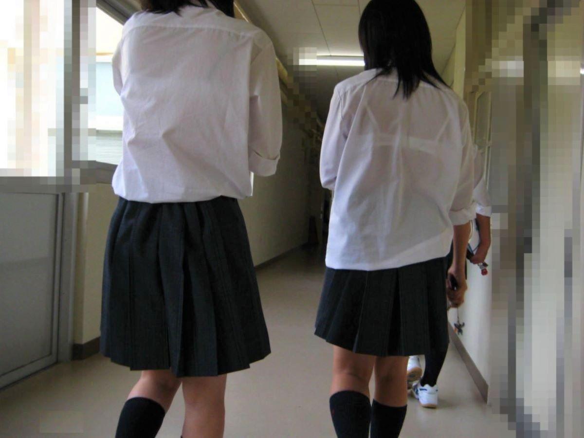 制服JK 透けブラ画像 19