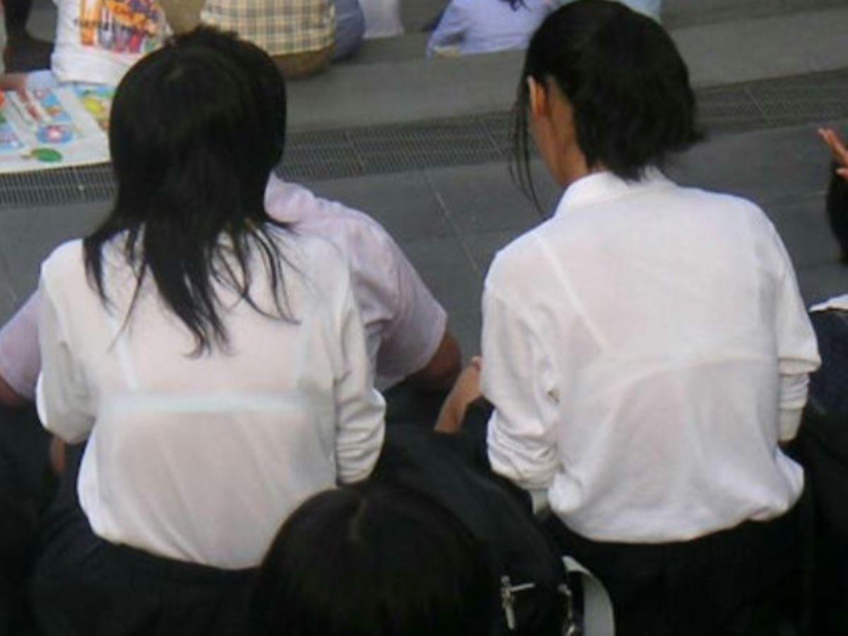 制服JK 透けブラ画像 27