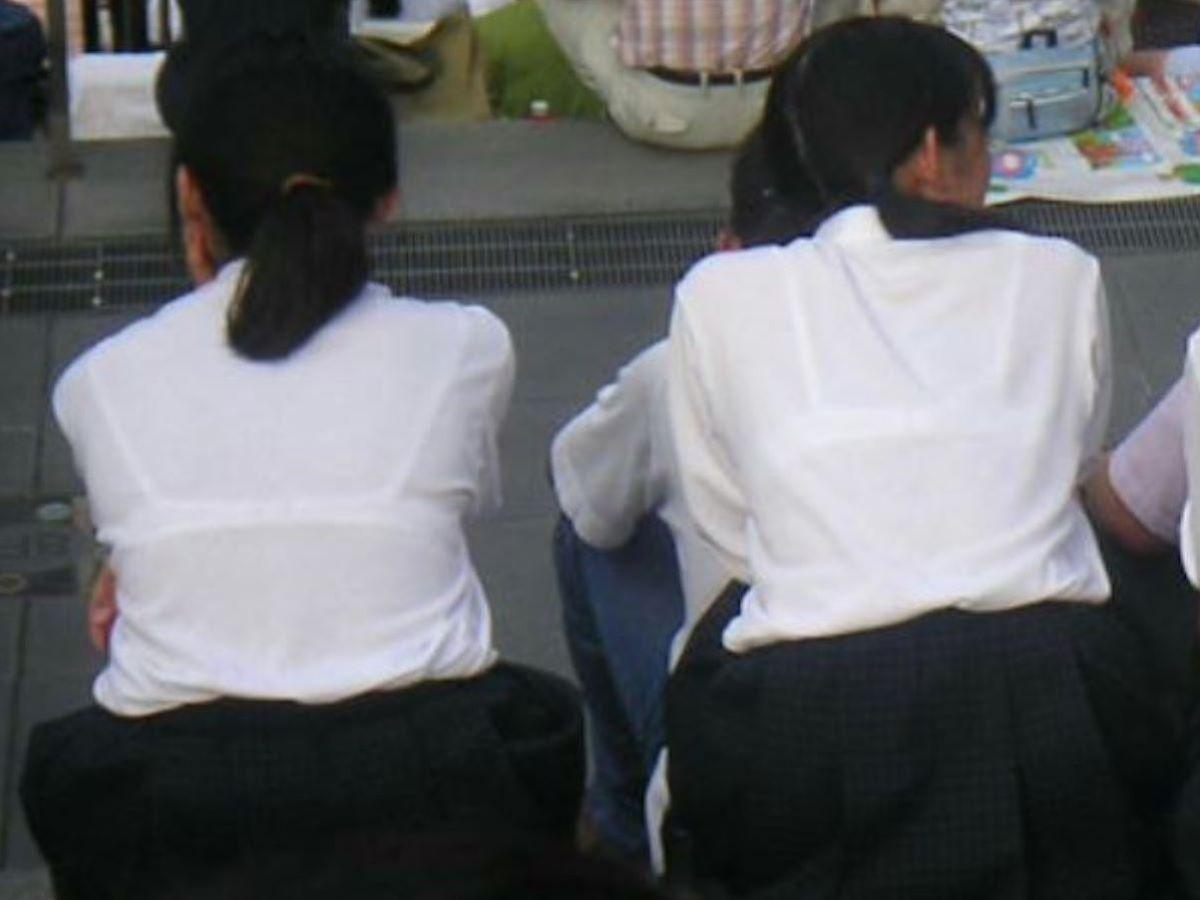 制服JK 透けブラ画像 30