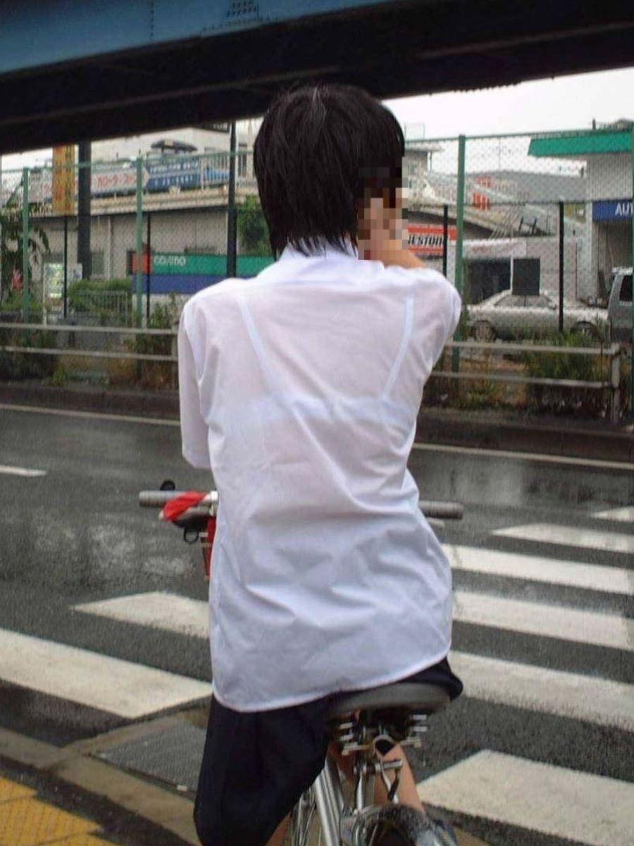 制服JK 透けブラ画像 48