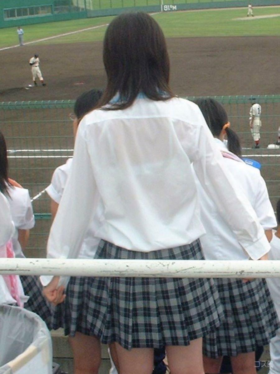 制服JK 透けブラ画像 61