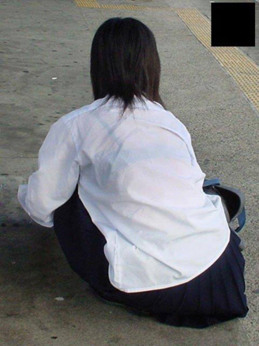 制服JK 透けブラ画像 91