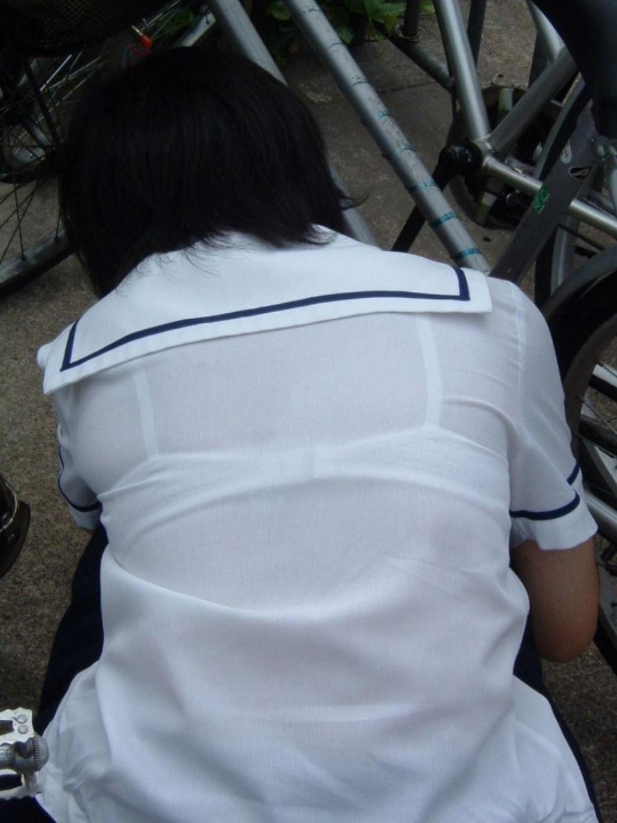 制服JK 透けブラ画像 99